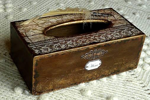 Krabica na vreckovky HOME čipka štýlová