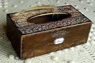Krabičky - Krabica na vreckovky HOME čipka štýlová - 6599568_