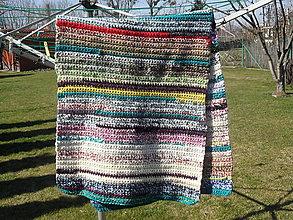 Úžitkový textil - Pásik , recy koberec - vzor 1 - 6597320_