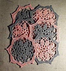 Úžitkový textil - Drobné kvetinové podložky II. - sada 6 ks - 6600181_