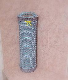 Košíky - Zásobníky na toaletný papier šedo-modrá - 6597995_