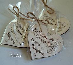 Darčeky pre svadobčanov - Samostatné ZABALENIE magnetky - 6601042_