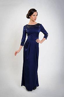 Šaty - Queen blue simply...38/40 - 6603844_