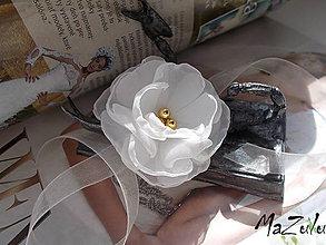 Náramky - svadobný náramok pre družičku - 6601977_
