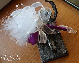 Pierka - svadobné pierko pre ženícha - 6603070_