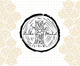 Drobnosti - Svadobná pečiatka  strom 42 mm - 6601594_