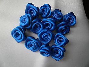 """Galantéria - Saténové ružičky """"Parížska modrá.. - 6601329_"""