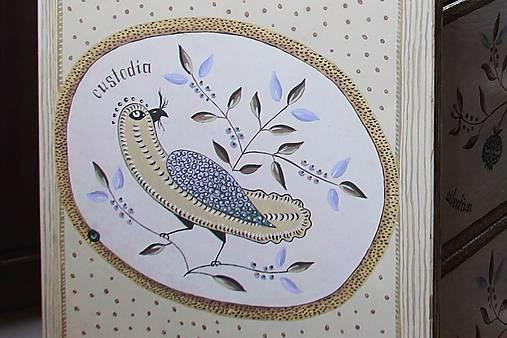 """Ručne maľovaná komoda """"Rodné hniezdo"""""""
