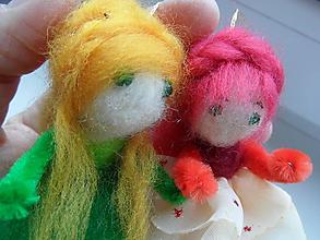 Dekorácie - plstené bábiky - 6601694_