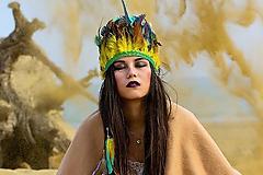 Ozdoby do vlasov - Zelená boho čelenka - 6602085_