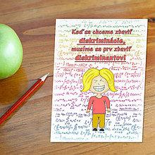 Detské doplnky - Stop diskriminácii! Vtipná linaková podložka do zošita 14 - 6603647_