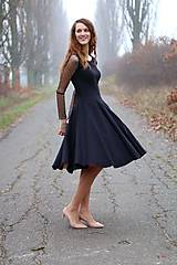Šaty - Šaty s tylovými rukávmi - 6604398_
