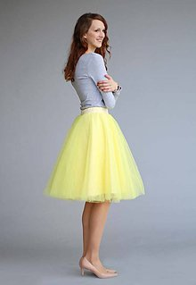Sukne - Tylová sukňa žltá - 6605036_