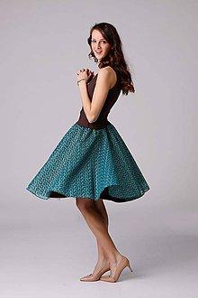 2b3cc3ddaa25 Sukne - Tylová sukňa s čipkou tyrkys - 6607243