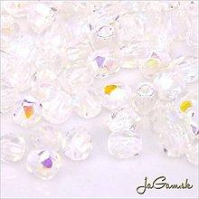 Korálky - Ohňovky 3mm crystal AB 40ks (5009) - 6605695_