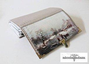 Peňaženky - Harmonika velká - zimní idylka REZERVACE - 6604490_