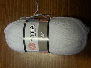 Galantéria - Priadza Yarn Art Baby - biela 501 - 6604451_