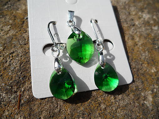 Set-Swarovski Elements-dark green