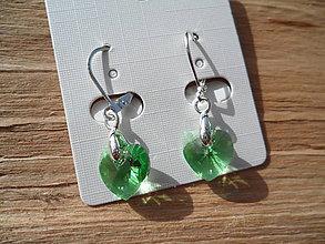 Náušnice - Náušnice-Swarovski Elements-green - 6605649_