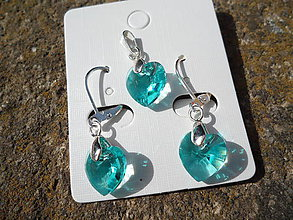 Sady šperkov - Set-Swarovski Elements-light turquoise - 6605735_