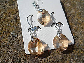 Sady šperkov - Set-Swarovski Elements-crystal golden shadow - 6605800_