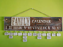rodinný kalendár