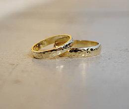 """Prstene - Tepané obrúčky """"po daždi"""" oblé - 6609572_"""