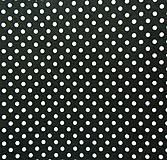 Textil - Filc s potlačou - 20x30 cm, hrúbka 1 mm - bodkovaný, čierny - 6610764_