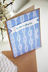 Papiernictvo - Pohľadnica Všetko najlepšie(námornícka) - 6609645_
