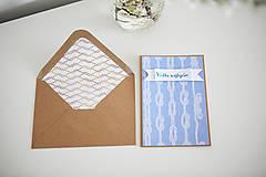 Papiernictvo - Pohľadnica Všetko najlepšie(námornícka) - 6609647_