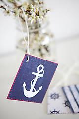 Papiernictvo - Námornícke visačky na darčeky - 6609711_