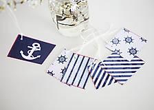 Papiernictvo - Námornícke visačky na darčeky - 6609712_