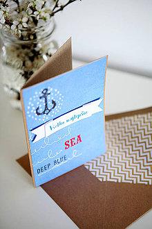 Papiernictvo - Všetko najlepšie - námornícka - 6609622_