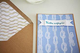 Papiernictvo - Pohľadnica Všetko najlepšie(námornícka) - 6609648_