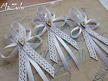 - svadobné pierka Vintage pre rodičov - 6607969_