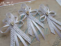 Pierka - svadobné pierka Vintage pre rodičov - 6607969_