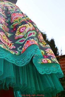 Sukne - Folk Bloom, pás 82 cm - 6609273_