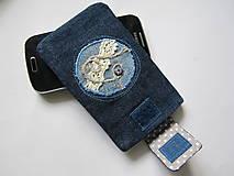 Na mobil - Obal na mobil- denimový - 6608692_