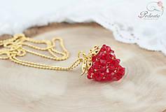 Náhrdelníky - Strawberry Red - 6611289_