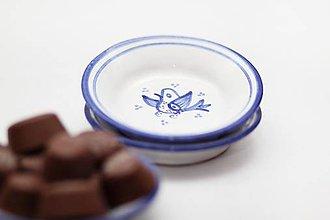 Nádoby - Vtáčik na tanieriku - 6608585_
