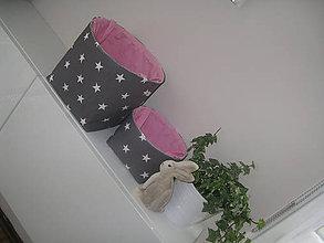 Úžitkový textil - Textilní košíčky - 6609189_