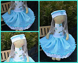 Bábiky - Tyrkysová bábika - 6610994_