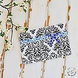 Kabelky - Čierno- biela taštička - 6610760_