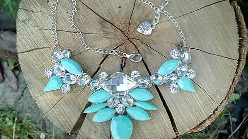 819ae8947 Modrý štrasový náhrdelník / belikeme - SAShE.sk - Handmade Náhrdelníky