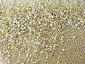 Korálky - Toho Round TR-15-PF558 Permanent Finish - Galvanized Aluminum 15/0, bal.5g - 6609699_