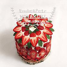 Dekorácie - Novomanželia zápich na tortu - 6611281_