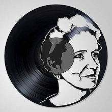 Obrazy - Portrét ako dar 2 - obraz z vinylu na stenu - 6612541_