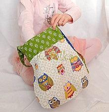Detské tašky - Taška pre deti - Sovičková v zelenom - 6612941_