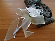 Pierka - svadobné pierko maslovoBiele III. - 6611608_