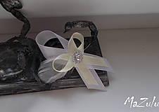 Pierka - svadobné pierko v maslovoBielej - 6612236_